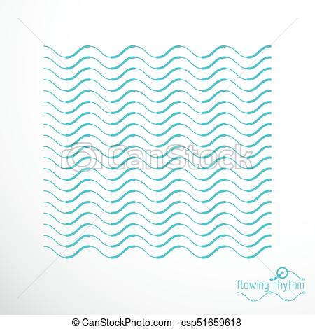 450x470 Abstract Wavy Lines Rhythm Pattern. Vector Technical Background