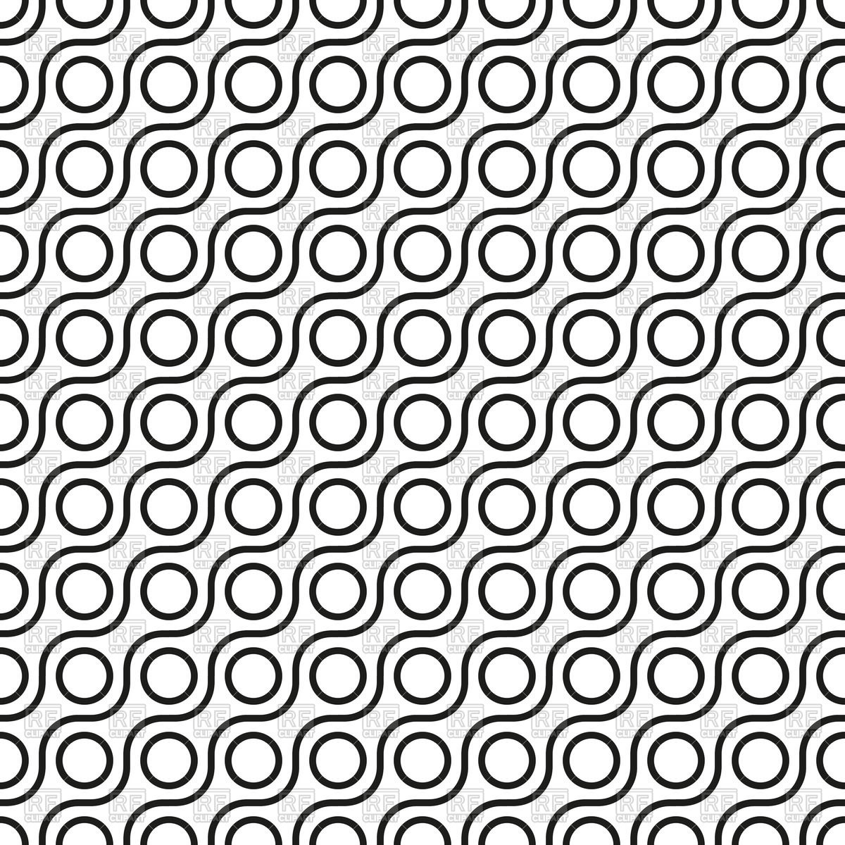 1200x1200 White And Black Seamless Wavy Pattern With Geometric Ornament