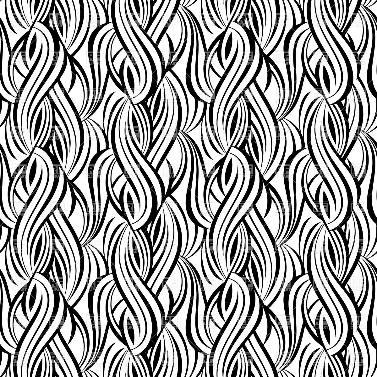 1200x1200 Black And White Wavy Pattern Vector Image Vector Artwork Of