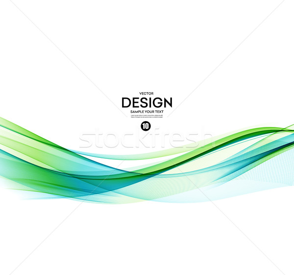 600x561 Abstract Vector Background, Blue Green Wavy Vector Illustration
