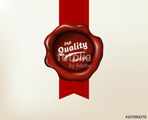500x408 Realistic Vector Red Wax Seal. Ancient Stamp On Letter. Stock