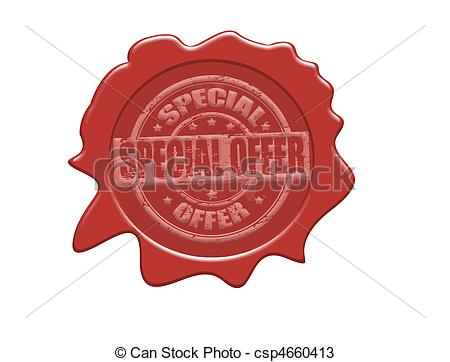450x362 Special Offer Wax Seal. Wax Seal With The Text Special Offer