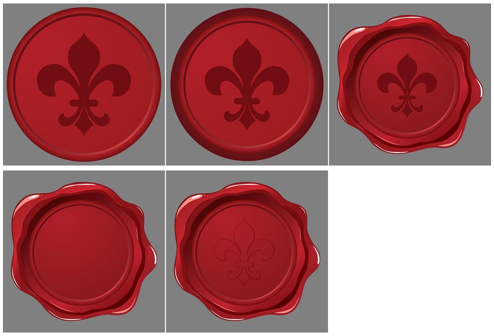 1000x680 Fleur De Lys Wax Seal Vector Dragonartz Designs (We Moved To
