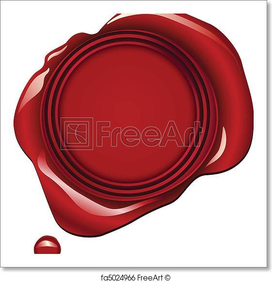 561x581 Free Art Print Of Red Wax Seal. Realistic Red Wax Seal Vector