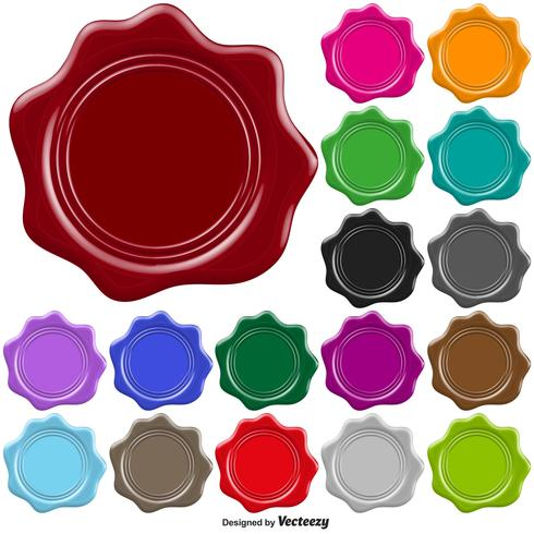 490x490 Set Of Colorful Stamp Wax Seal