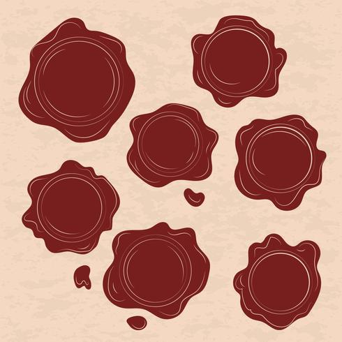 490x490 Set Of Red Wax Stamp Vectors