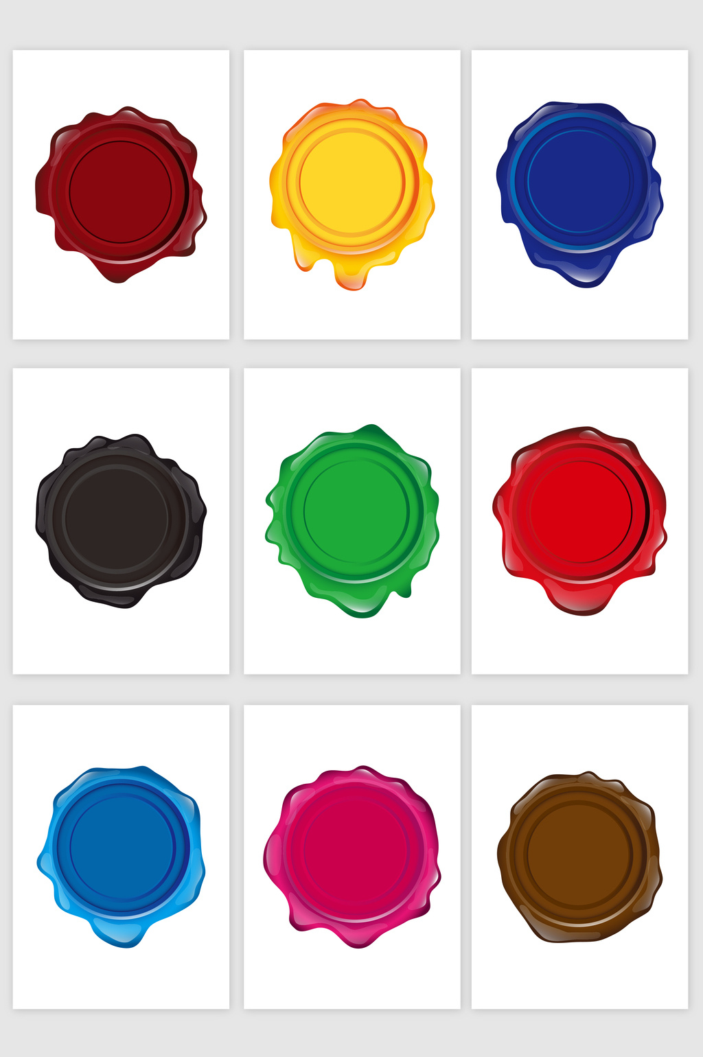 1024x1540 Wax Oil Seal Stamp Vector Graphic Free Download Pikbest