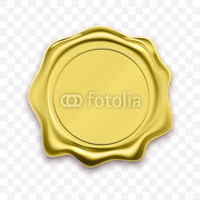 400x400 Gold Stamp Wax Seal Vector Sealing Retro Label Buy Photos Ap