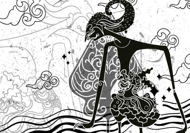 632x443 Wayang Gunungan Illustration Free Vector Download 408479 Cannypic