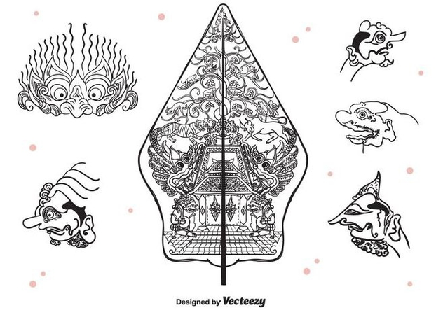 632x443 Wayang Icons Vector Free Vector Download 400491 Cannypic