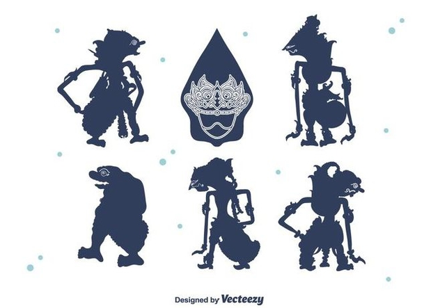 632x443 Wayang Silhouettes Vector Free Vector Download 400489 Cannypic