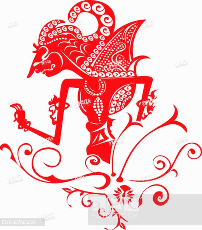 699x799 Wayang Kulit, Asian Famous Shadow Puppet, Stock Vector, Vector And