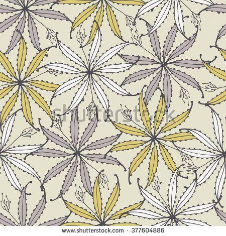 450x470 Hemp Seamless Pattern. Stock Vector Illustration 377604886
