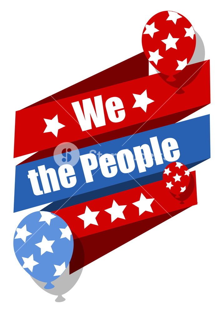 714x1000 We The People Constitution Day Vector Illustration Royalty Free