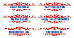 300x154 Banner Text Constitution Day Vector Illustration Royalty Free