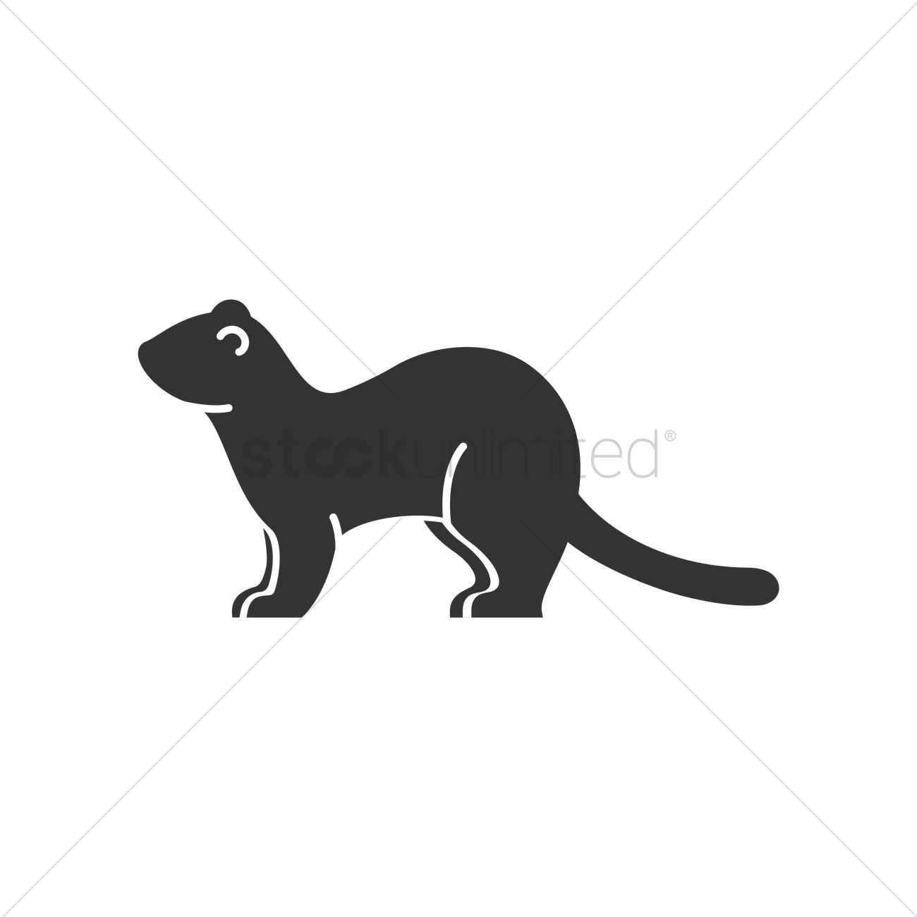 1300x1300 Weasel Vector Image