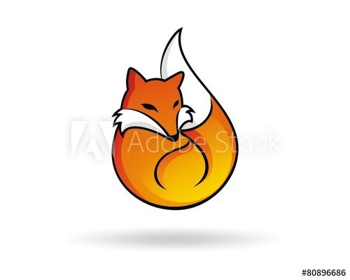 500x400 Fox Weasel Civet Orange Fuel Icon Character Vector