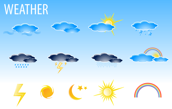 600x380 Free Free Vector Weather Icons Free Download Psd Files, Vectors