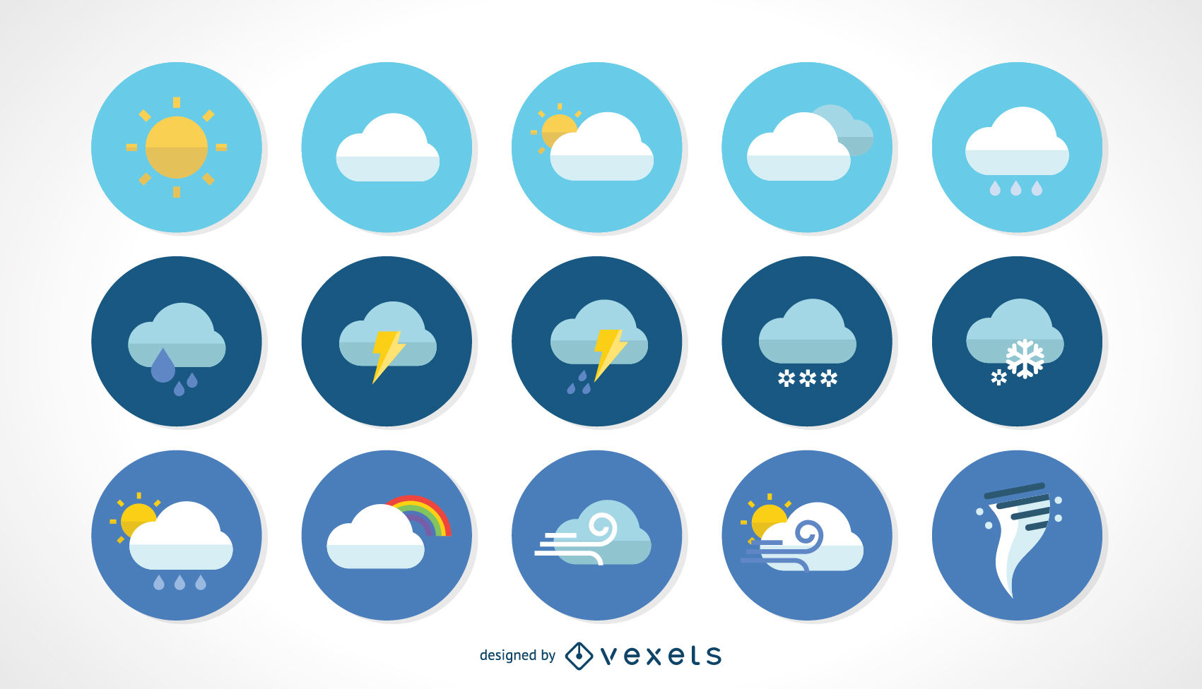 1701x976 Vector Weather Icons