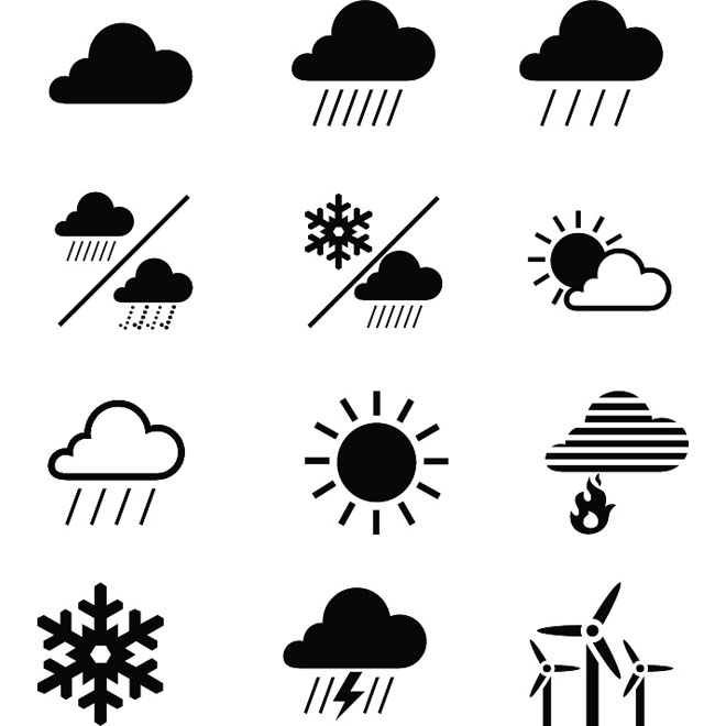 660x660 Weather Icons Vector