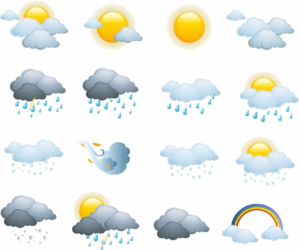 600x503 Weather Icons, Day Forecast Free Vector In Adobe Illustrator Ai