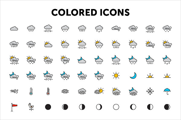 600x399 Weather Icons