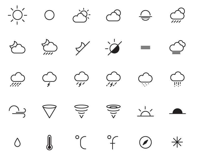 801x648 Fine Weather Icons Vector Free Vector Graphic Download