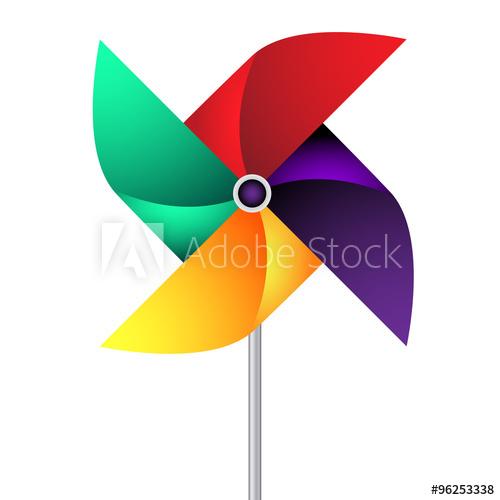 500x500 Vector Paper Weather Vane In Vivid Colors