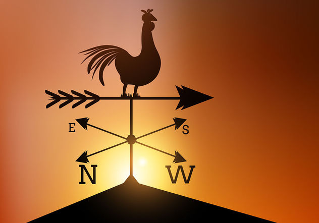 632x442 Weather Vane Vector Free Vector Download 199943 Cannypic
