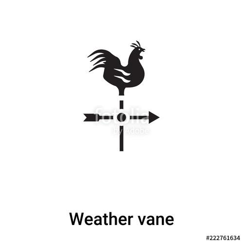 500x500 Weather Vane Icon Vector Isolated On White Background, Logo