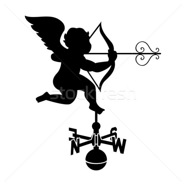 600x600 Cupid Weather Vane Vector Illustration Sahua ( 1144214) Stockfresh