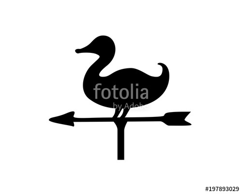 500x400 Duck, Weather Vane, Wind Direction Stock Image And Royalty Free