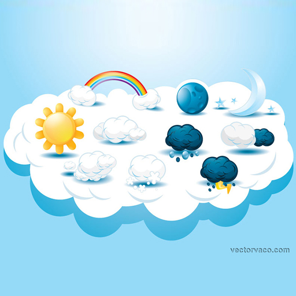 600x600 Free Vector Weather Icons