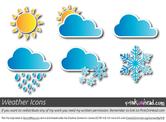 580x426 Free Vector Weather Icons