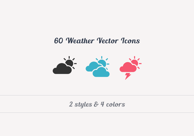 780x550 Weather Vector Icons