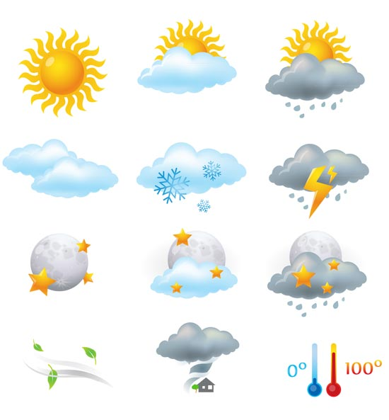 550x593 Weather Vector Elements