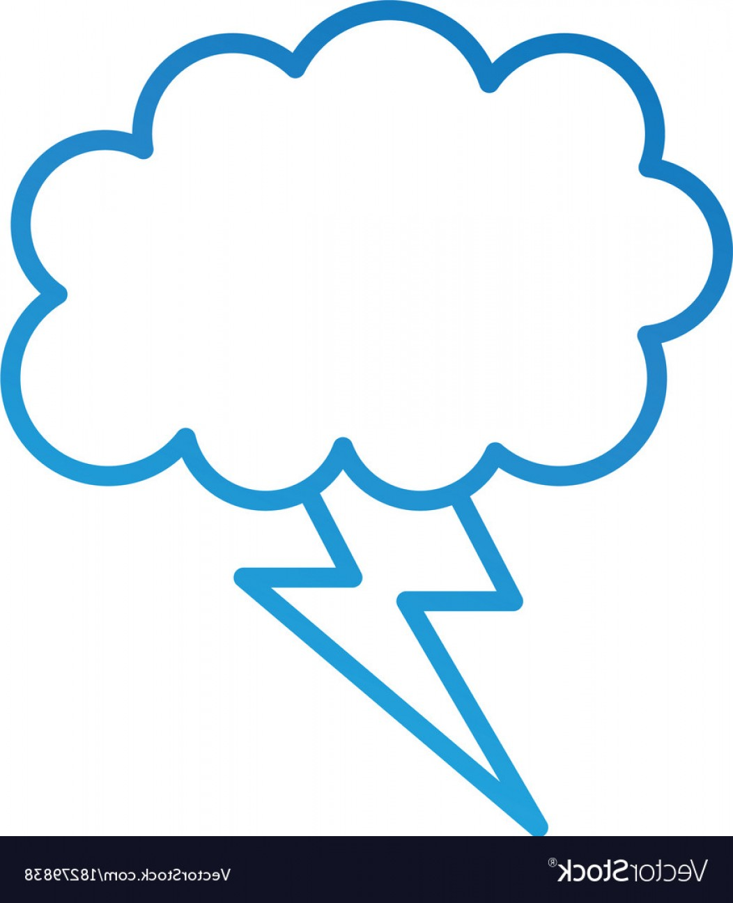 1052x1296 Cartoon Lightning Bolt And Cloud Weather Vector Arenawp