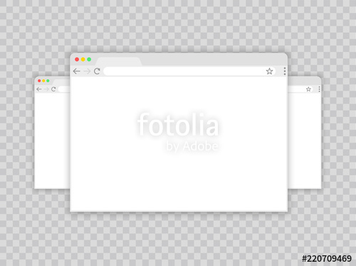 500x373 Browser Window.web Browser In Flat Style. Window Concept Internet