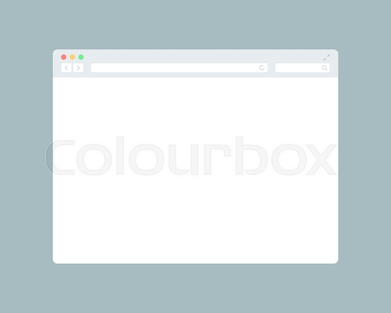 800x640 Flat Blank Browser Window. Grey Internet Browser Stock Vector