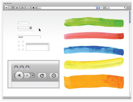 460x352 Free Vector Browser Window And Web Site Elements The Graphic Mac