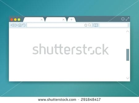 450x335 Vector Illustration Of Simple Flat Web Browser Design Template