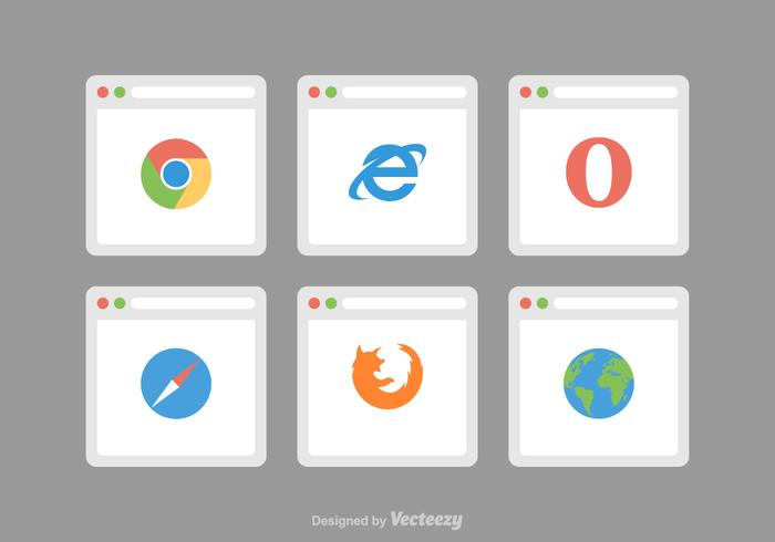 700x490 Web Browser Vector Icons