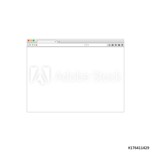 500x500 Web Browser Window Vector Illustration. Vector Flat Style