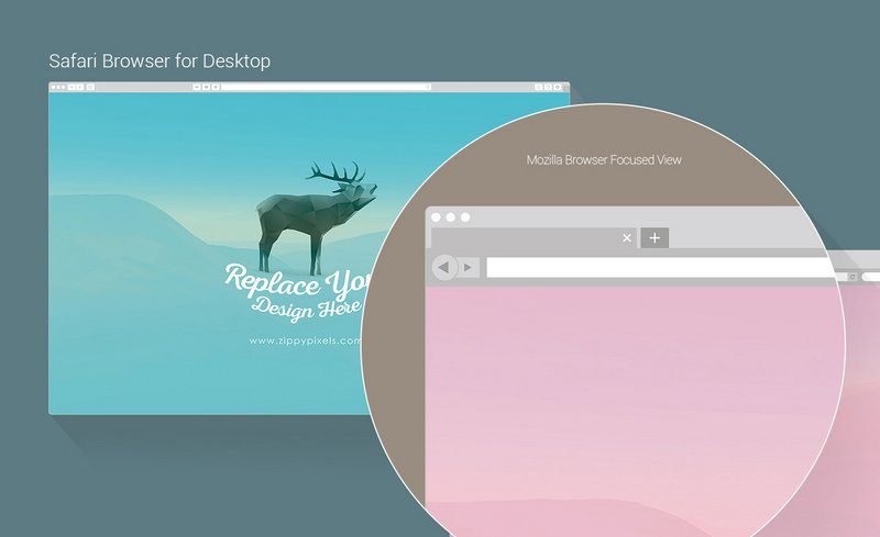 800x489 25 Free Web Browser Mockups Psd, Vector