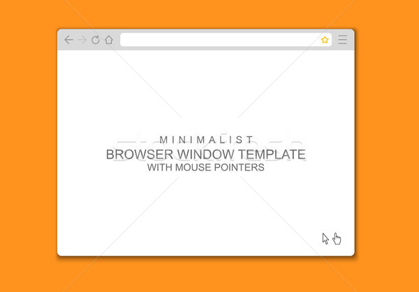 600x418 Abstract Flat Design Web Browser Window Template Vector