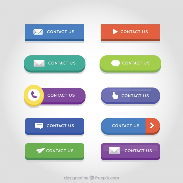 626x626 Set Of Colored Contact Web Buttons Vector Free Download