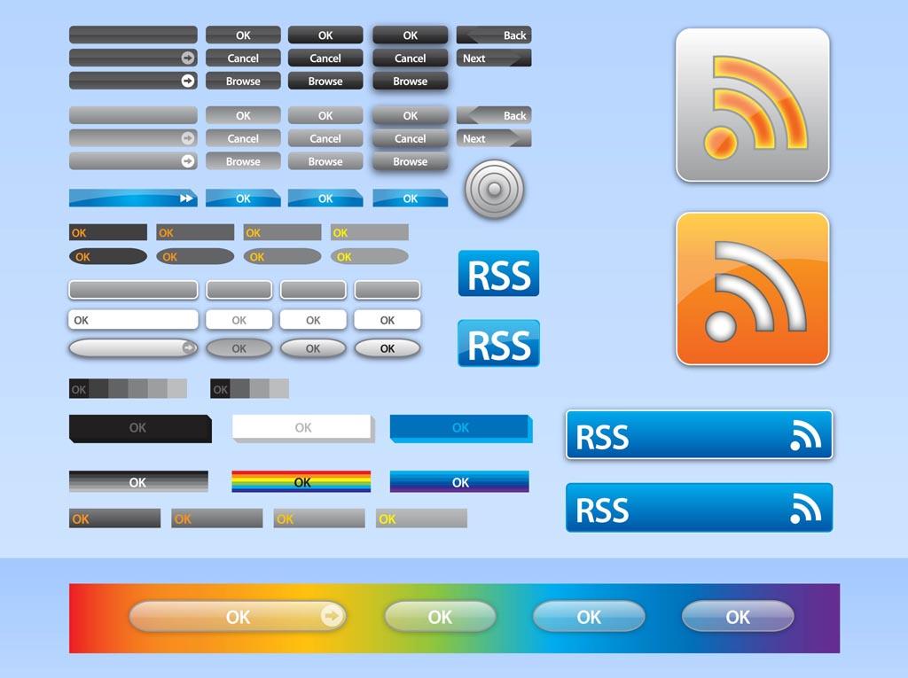 1024x765 Vector Web Buttons Vector Art Amp Graphics