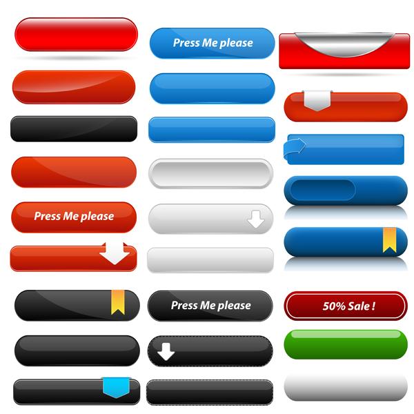 600x600 Web Menu Buttons Vectors Free Download