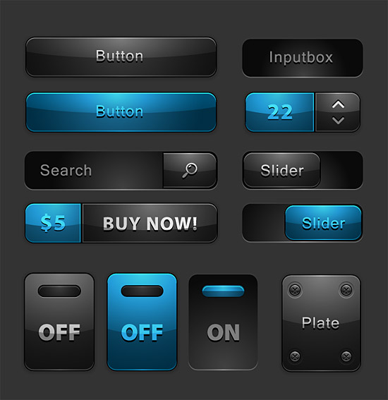 550x567 Beautifully Web Buttons Vector Two