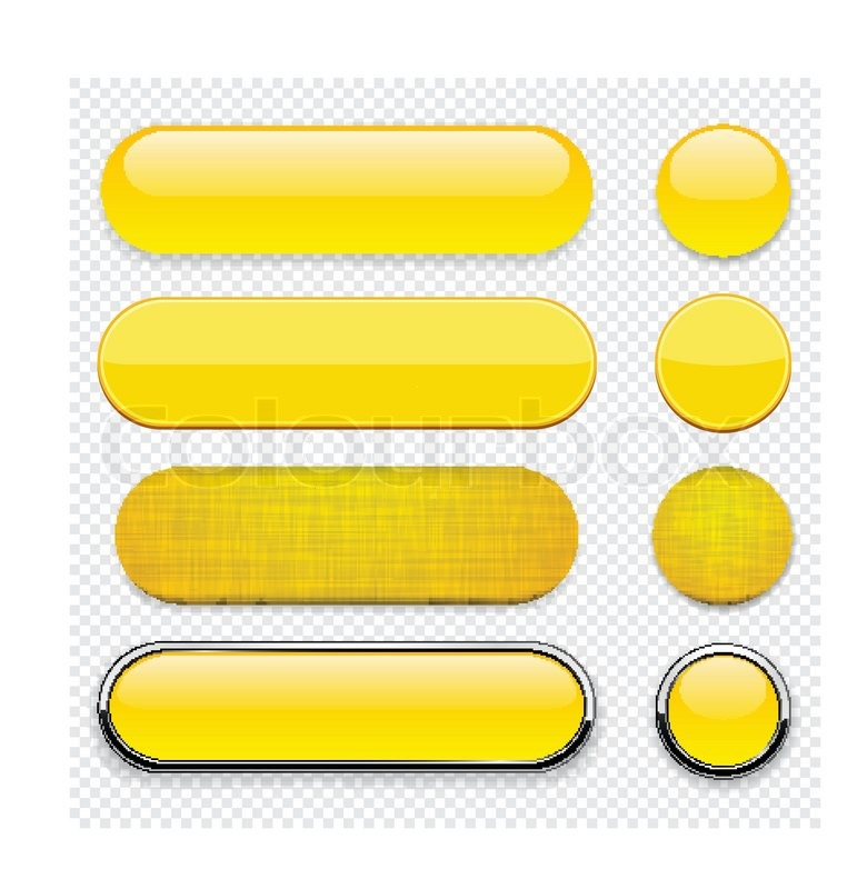 780x800 Yellow High Detailed Modern Web Buttons Stock Vector Colourbox